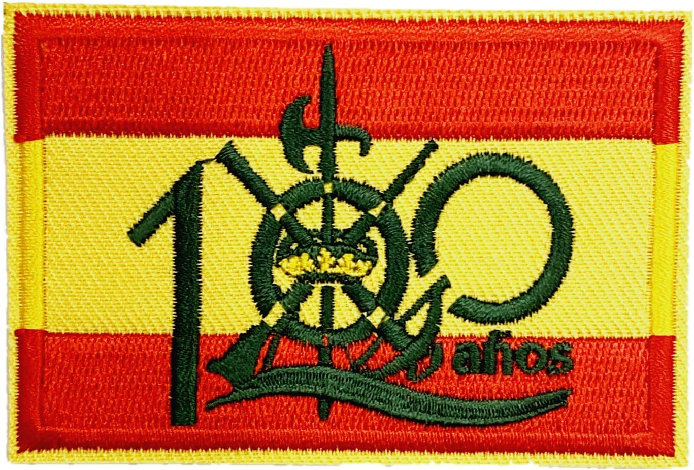 Parche bandera 100 años Legión española 7,8x5,4cm: Amazon.es: Hogar