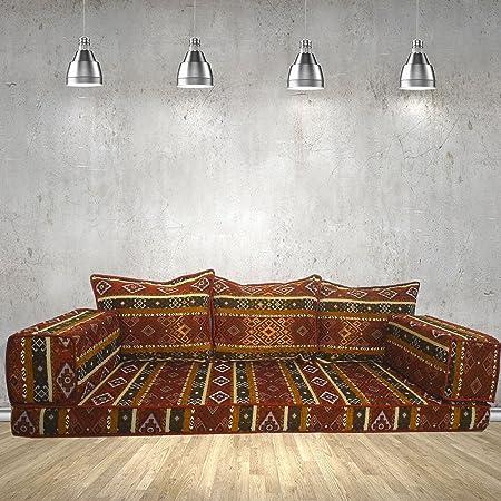 Tribal floor seating, handmade floor sofa set,arabic majlis,arabic ...