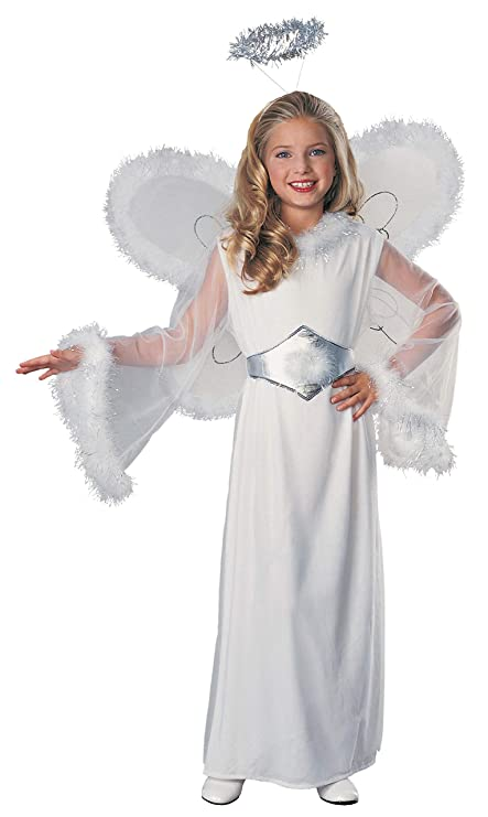 Amazon Com Feathered Fashions Child S Snow Angel Costume Medium