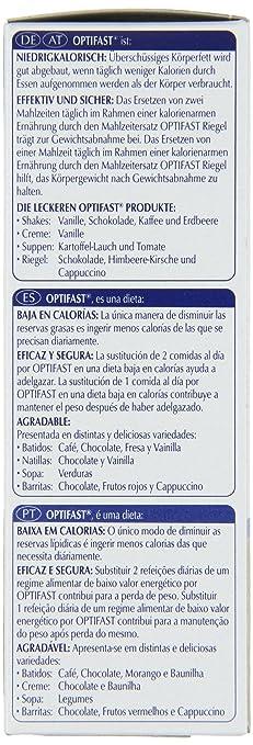 OPTIFAST Barritas Sabor Chocolate - Sustitutivo de comida, 6 barritas