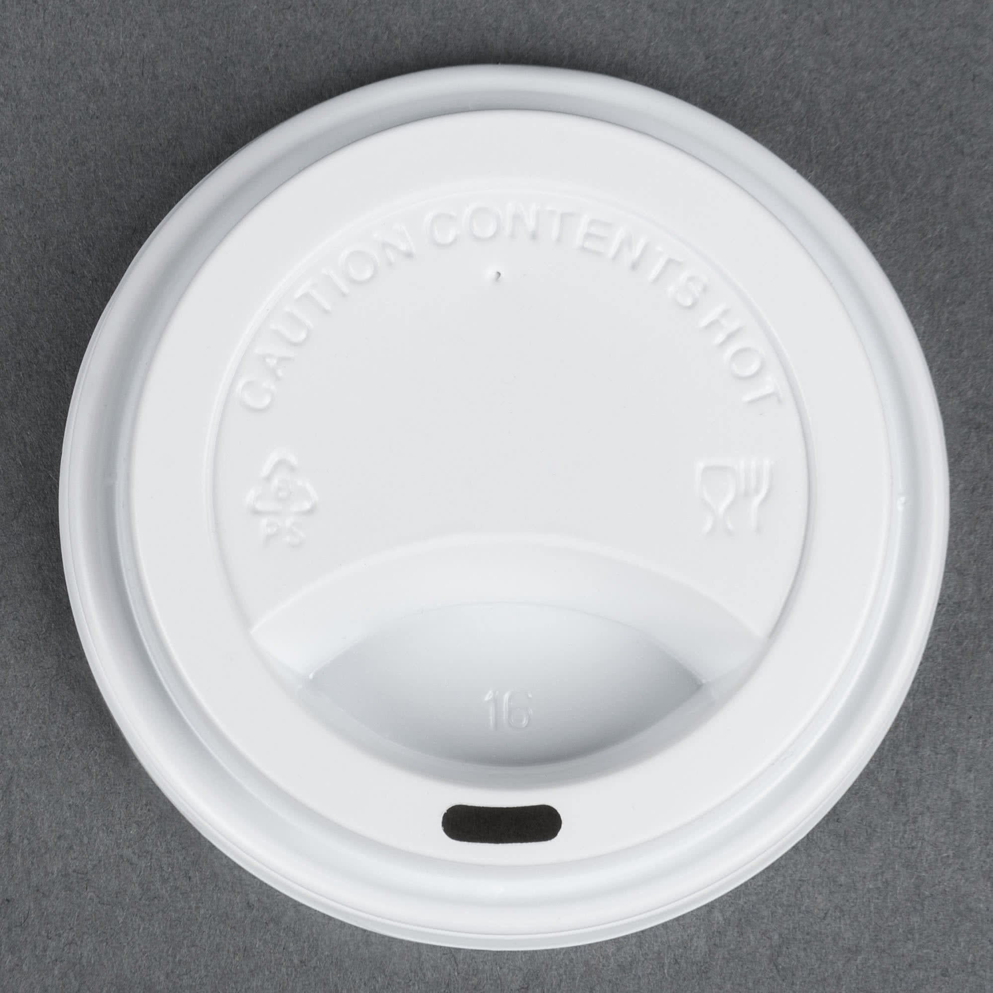 TableTop King 8 oz. White Hot Paper Cup Travel Lid - 1000/Case