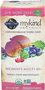 Garden Of Life, Mykind S Womens 40 Multi Organic, 72 Tablets