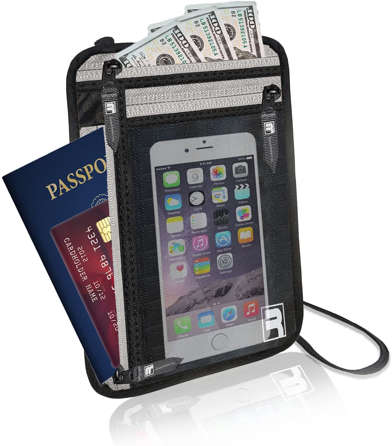 Cartera para Cuello con protección RFID. Porta pasaportes para ...