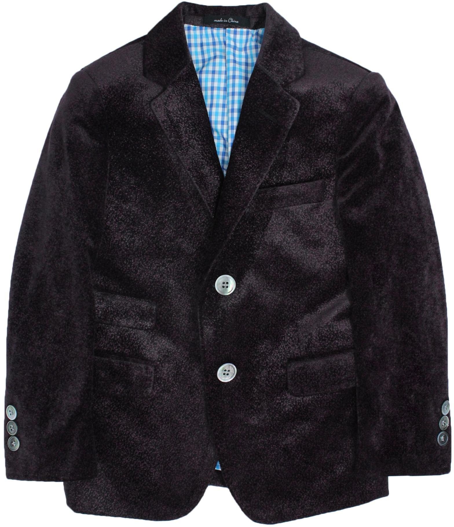 T.O. Collection Boys Burgundy Slim Fit Velvet Blazer - 6005-29 - Burgundy, 10 Slim by T.O. Collection