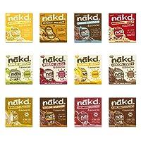 Nakd Fruit & Nut Bars Mixed Case Selection 48 Bars *Vegan, Raw, Wholefood, Wheat Free* (48 BARS 12 FLAVOURS NEW)