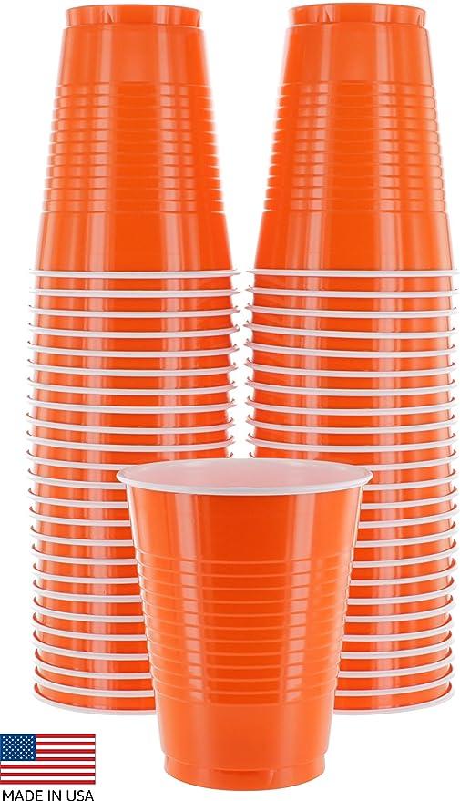 Amazon.com: Vasos desechables de plástico Amcrate de 16 ...