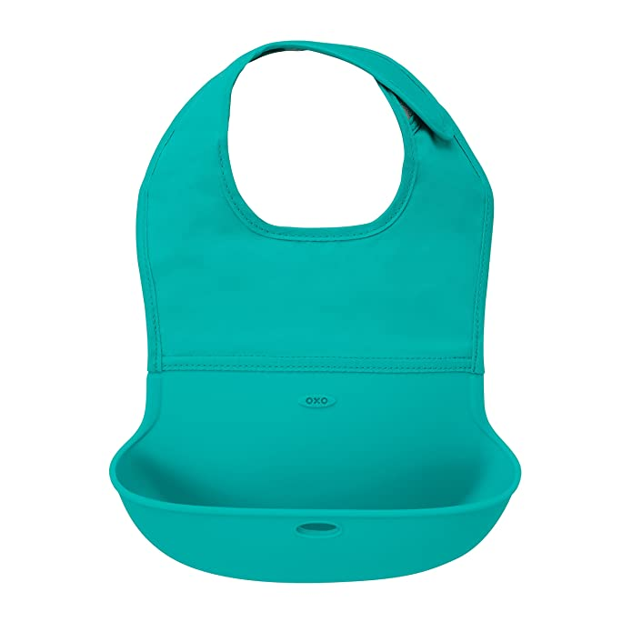 OXO Tot Roll Up Bib, Teal