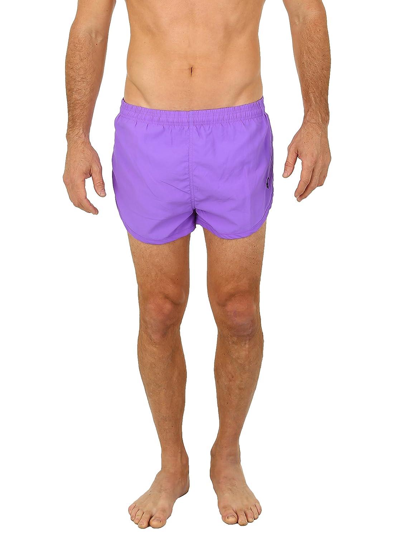 UZZI Men's Basic Running Shorts Swimwear Trunks U1830-MSHORTS-NPURPLE.L