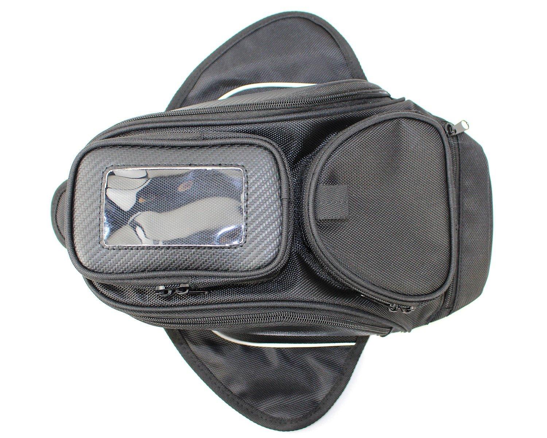 Taikesi Motorcycle Oil Fuel Tank Bag Magnetic Motorbike Riding Bag Black Universal