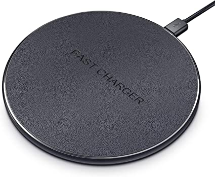 Wireless Charging Pad 10W, Qi-Certified Fast WirelessCharger for iPhone 11/11 Pro/11 Pro Max/Xs/X/XS Max/XR/8/8Plus, Samsung Galaxy ...