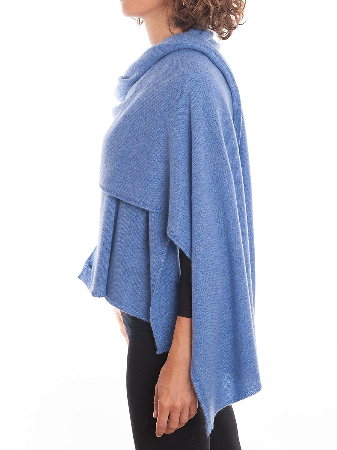 One size Dalle Piane Cashmere Woman Made in Italy Color: Beige Stole 100/% cashmere