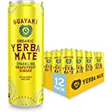 Guayaki Yerba Mate, Grapefruit Ginger, Organic Sparkling Alternative to Soda, Tea, and Energy Drinks, 12 Ounce Cans (Pack of