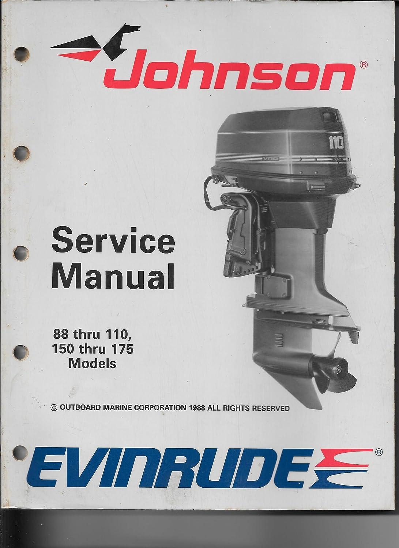 1989 Jonson Evinrude Service Manual 88-110hp and 150-175hp