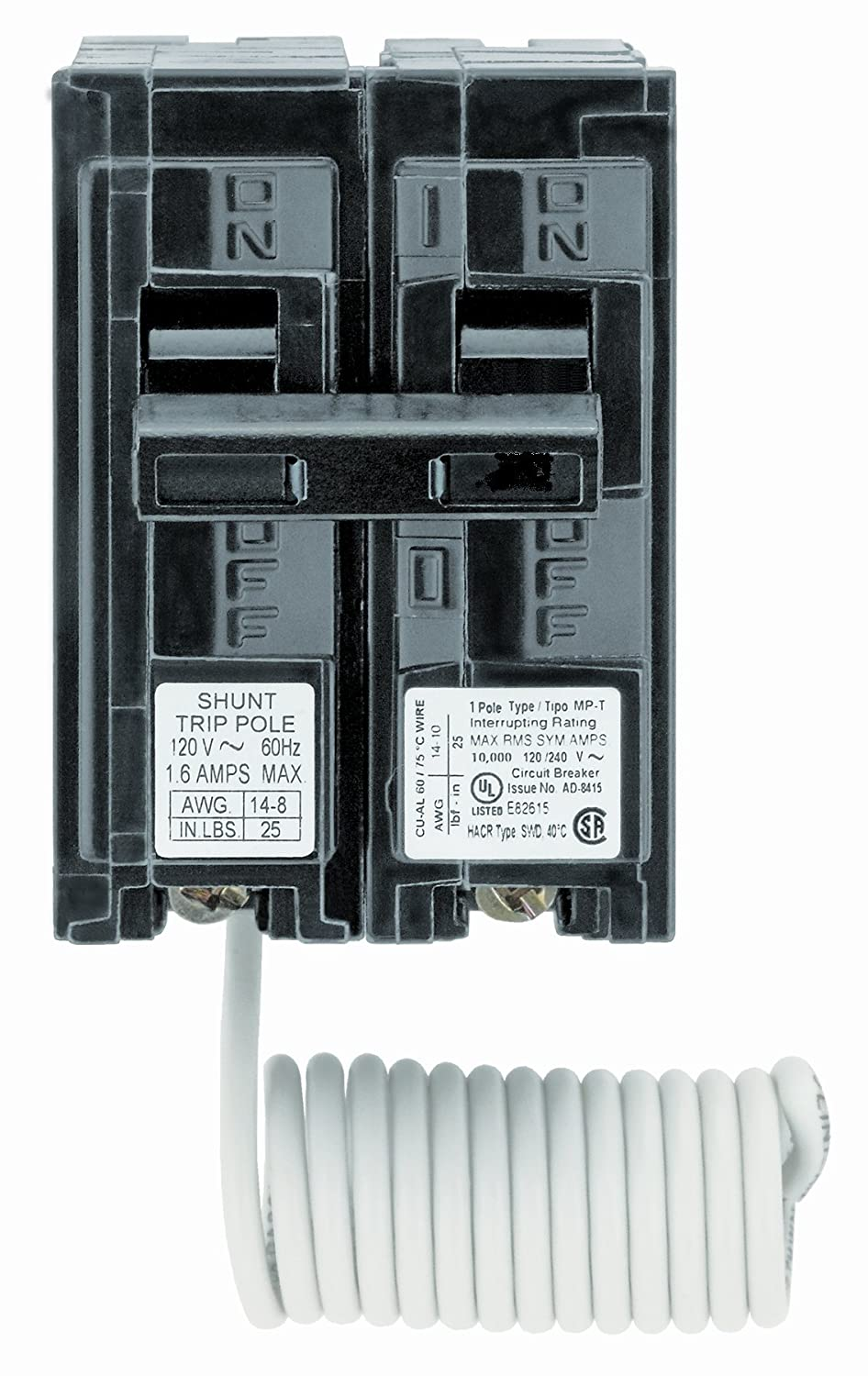 Siemens Q12000s01 120 Volt Type Mp T 20 Amp Circuit Breaker With Murray 2 In Doublepole Gfci Shunt Trip Single Pole Ground Fault Interrupters