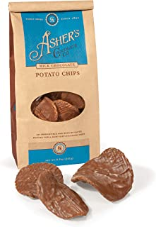 product image for Asher's Chocolates, Delicious Chocolate Covered Potato Chips, Made from the Finest Kosher Chocolate, Family Owned Since 1892 (8.5oz, Milk Chocolate)