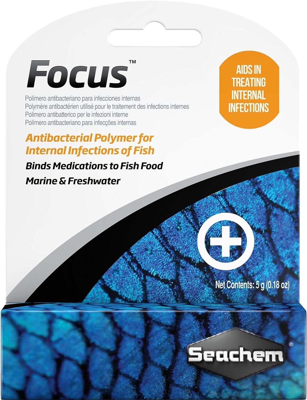 Seachem Focus Freshwater and Marine Fish Medication, 5 Grams