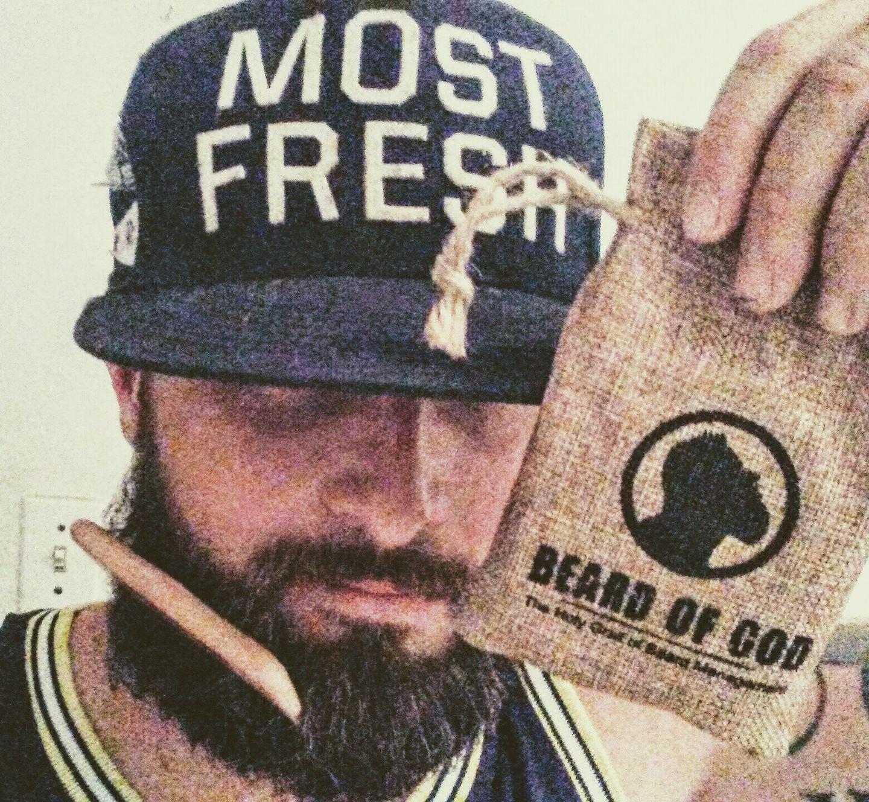 TOBACCO HAVANA - Beard Oil + Balm Conditioner + Bar Soap + Wood Comb & Sack - Natural & Organic - Vulcan Kit by Beard of God