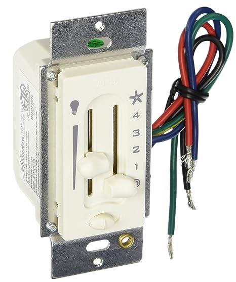 hunter 27183 fan light preset dual slide fan light control ceiling rh amazon com