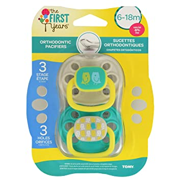 The First Years Animal Print Orthodontic Pacifier, 2 Pack, Stage 3, 6-18 Months