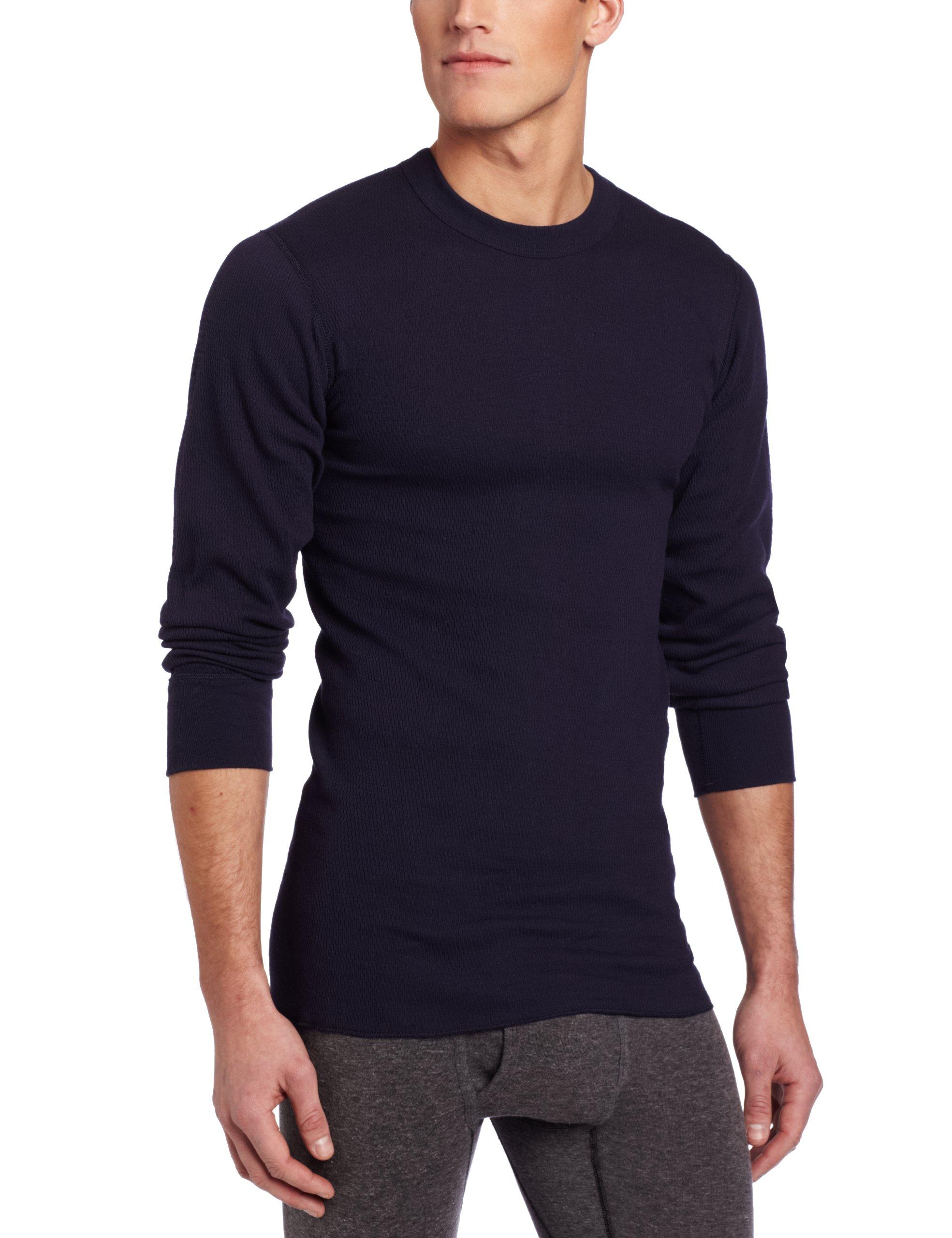 Rock Face Men's Tall 7 oz Lightweight Knit Thermal Shirt, Navy, Medium