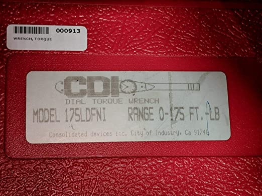CDI 1753LDFN 1//2-Inch Drive 0-175-Feet Dial Torque Wrench