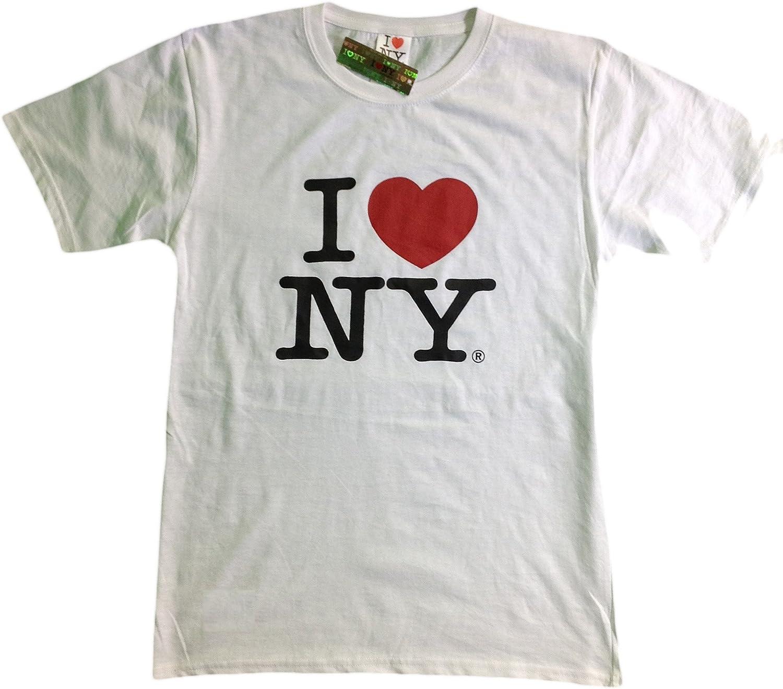 I Love NY New York Short Sleeve Screen Print Heart T-Shirt White