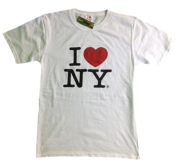 I Love NY New York Short Sleeve Screen Print Heart T-Shirt White Small 4ad7ed9186a