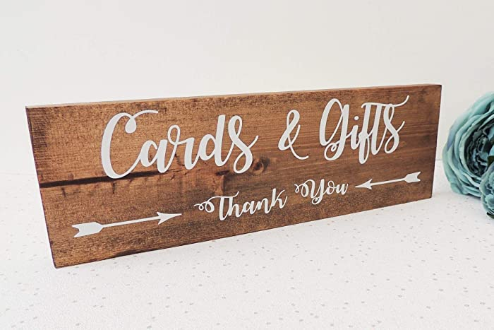 Wedding Table Sign Rustic Wedding Decor Gift And Card Sign