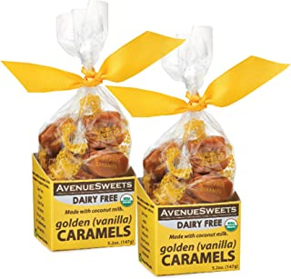 product image for AvenueSweets - Handcrafted Dairy Free Vegan Individually Wrapped Soft Caramels - 2 x 5.2 oz Boxes - Vanilla
