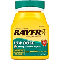 300-Count Bayer Aspirin Regimen 81mg Enteric Coated Tablets