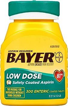 300-Count Bayer Aspirin Regimen 81mg Enteric Coated Tablets