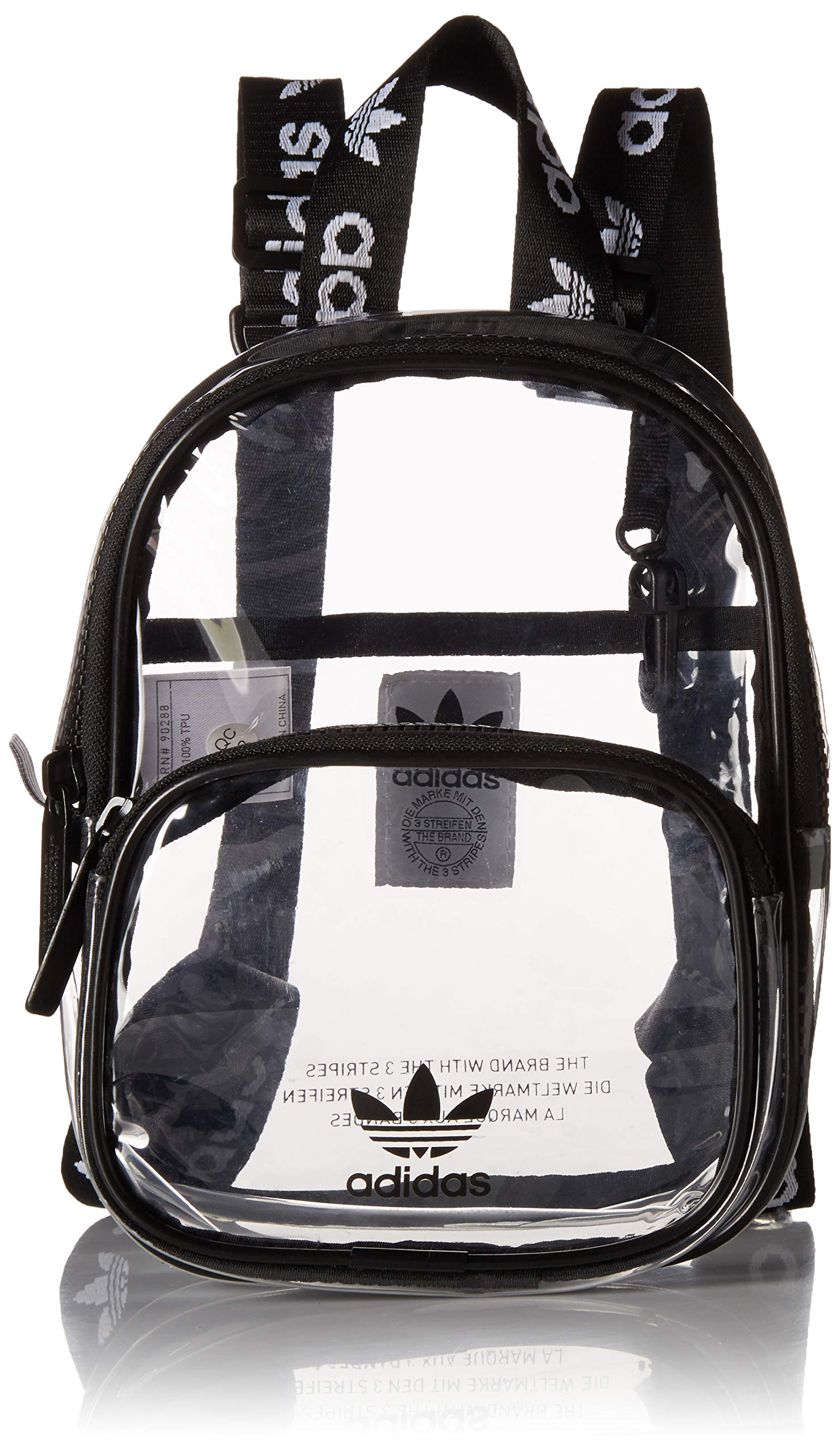 adidas Originals Unisex Clear Mini Backpack, Black, ONE SIZE by adidas