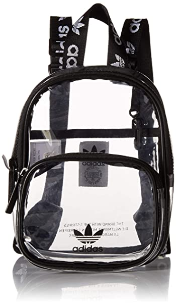 25704702c Amazon.com: adidas Originals Originals Clear Mini Backpack, Black ...