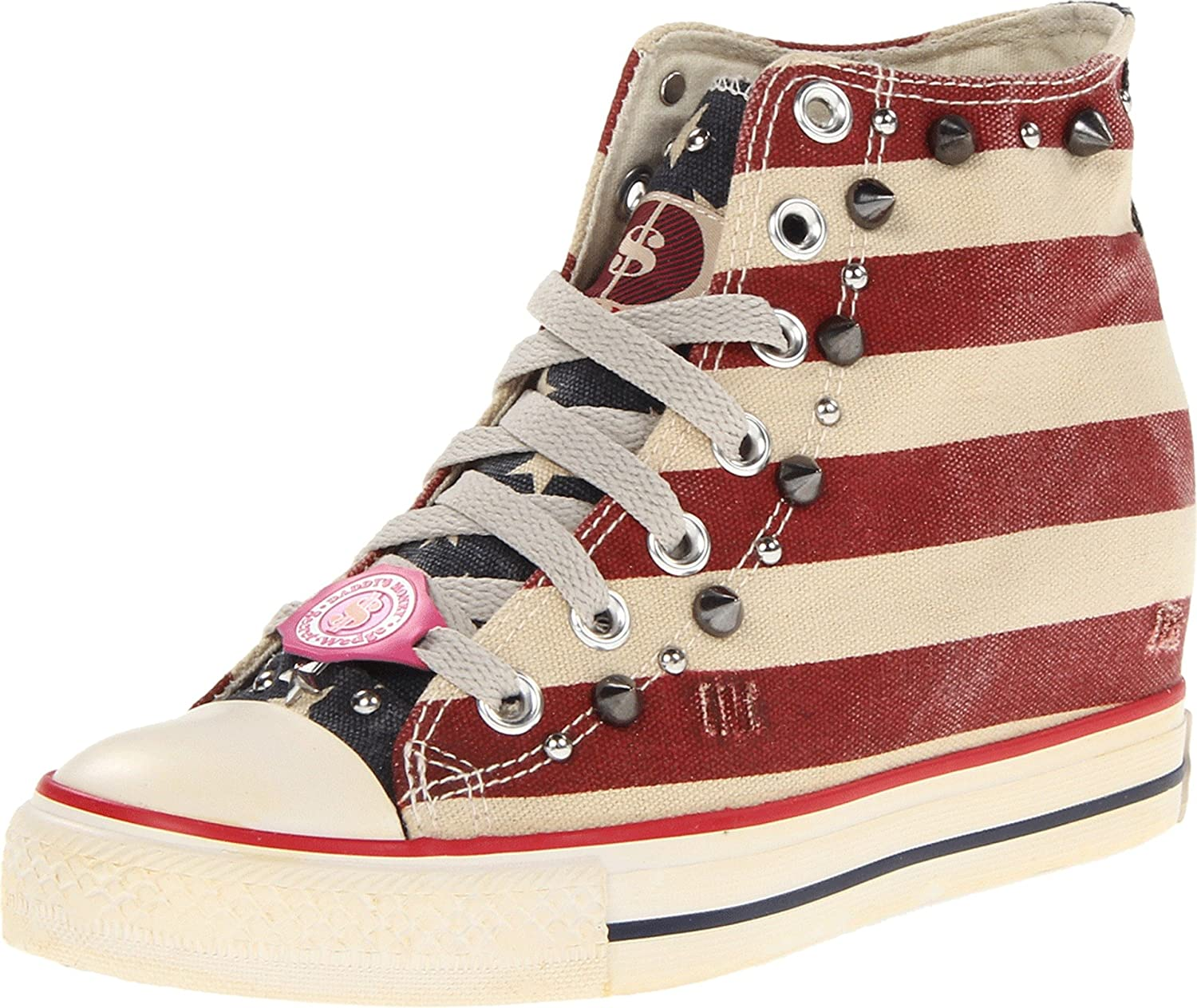 Skechers Daddy's Money Gimme Holidayz Womens Wedge High Top Sneakers
