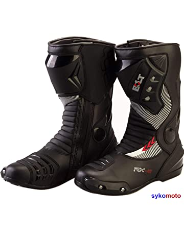 b3d23266f733f BOLT S12 Deportes Proteccion Motocicleta Carreras Deslizador Impermeable  Negro Botas (43 EU 9 UK