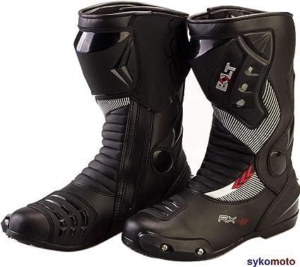 43 EU//9 UK BOLT S12 Deportes Proteccion Motocicleta Carreras Deslizador Impermeable Rojo Botas