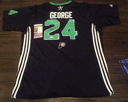 buy online 7df83 2c18f Paul George Autographed Jersey - ALL STAR w COA + STICKER ...