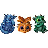 World of Wonders - Dreamland Dragons Series - Trio of Trouble - Set of Three (3) Collectible See Hear Speak No Evil…
