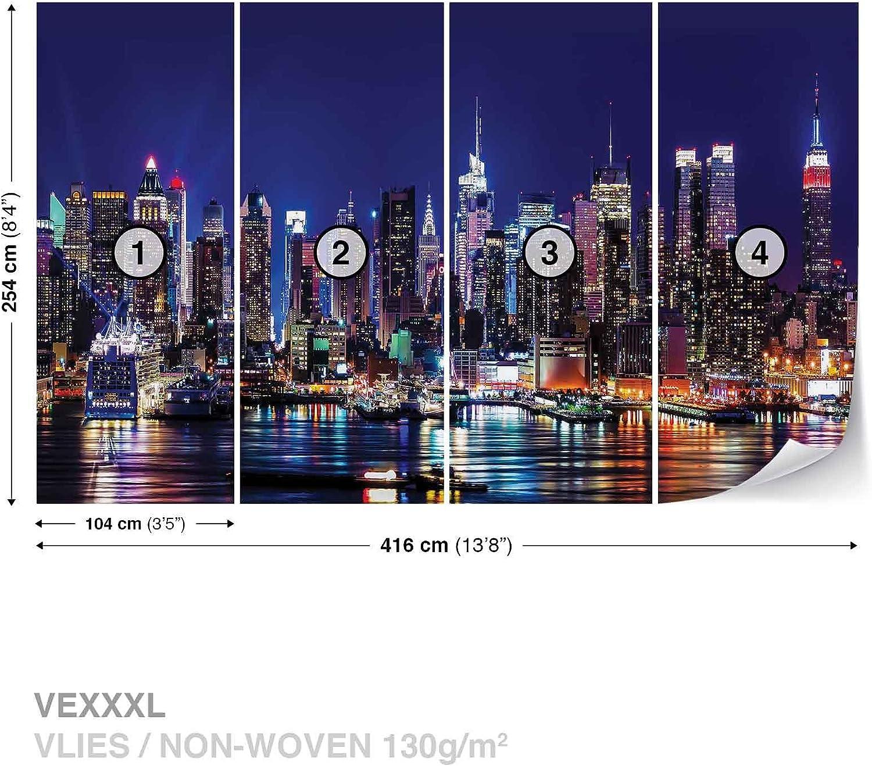 Papier Peint D/écor ForWall NEW YORK CITY AF1310VEXXXL Murale Art Image 416cm x 254cm