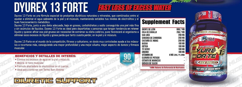 Muscle Force Dyurex 13 Forte - 90 Cápsulas: Amazon.es: Salud y cuidado personal
