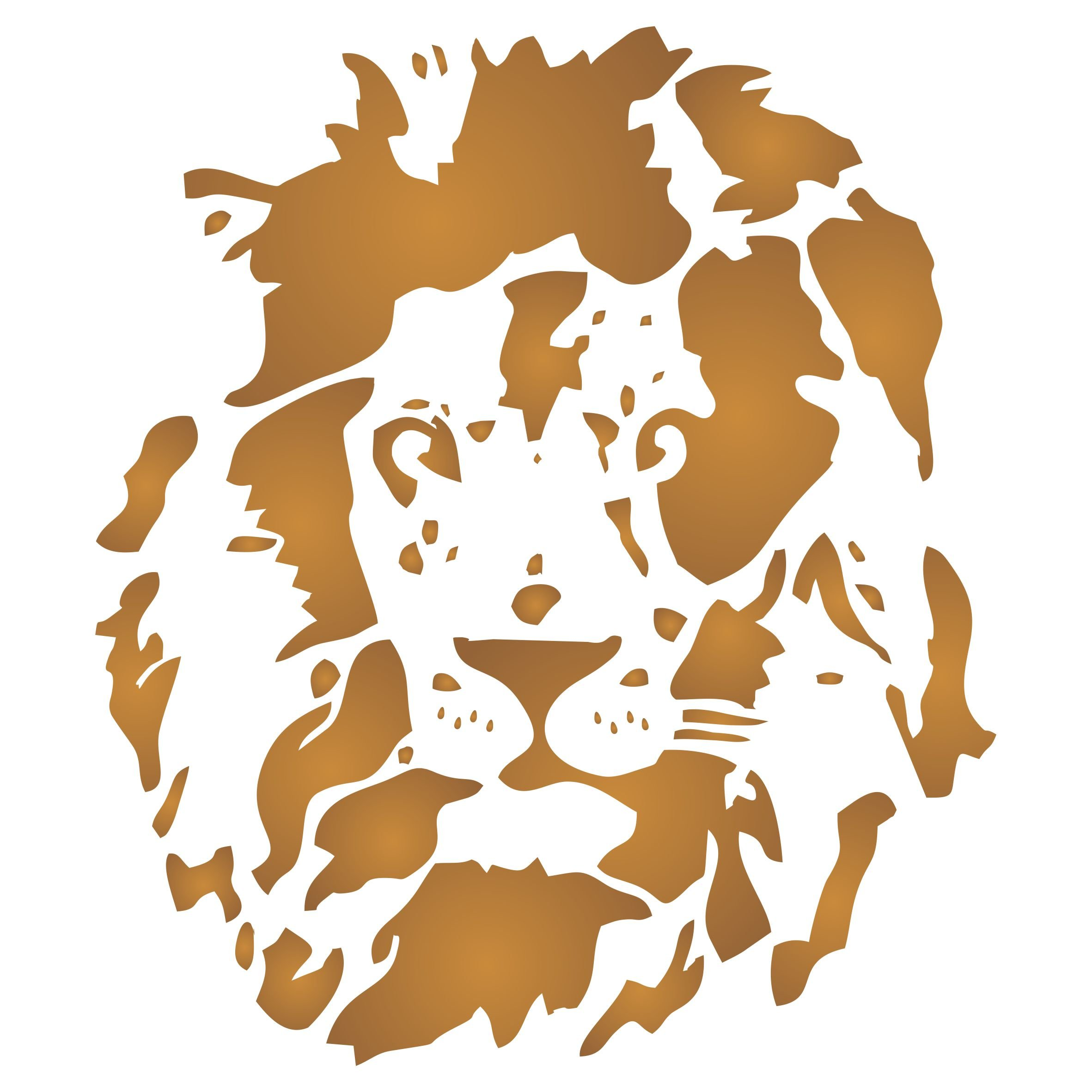 Lion Head Stencil - (size 14''w x 16''h) Reusable Wall Stencils for Painting - Best Quality Decor Ideas - Use on Walls, Floors, Fabrics, Glass, Wood, and More... by Stencils for Walls
