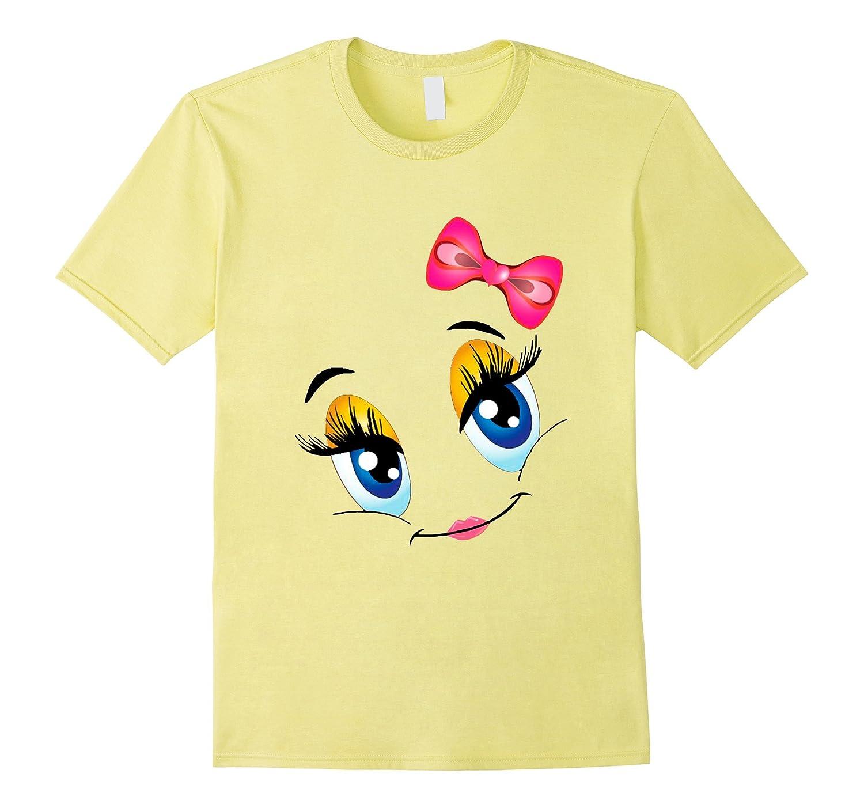 72f7e8742 Emoji Kiss Face Pink Lipstick Cute Smiley Face T-Shirt-ANZ ⋆ Anztshirt