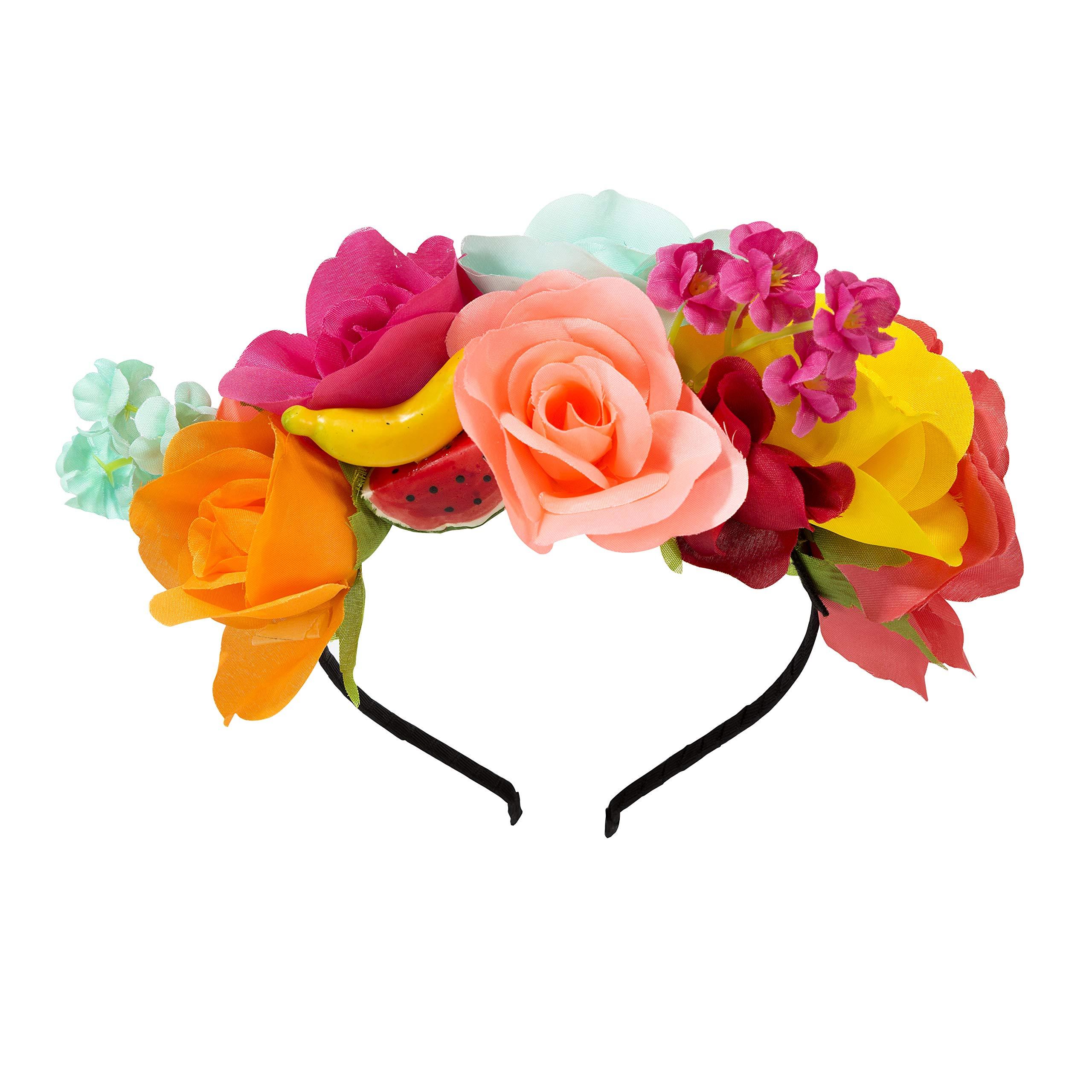 Talking Tables Boho Flower Headband | Mexican Luau Hawaiian Cuban Havana, Fabric, Mixed Colours, One Size