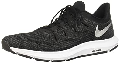 half off 7249d a0cbc Nike Quest, Chaussures de Running Compétition Homme, Multicolore  (Black Metallic Silver