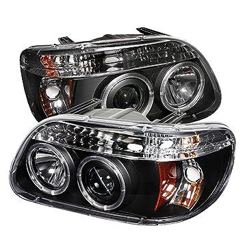 spyder auto ford explorer black halogen projector headlight