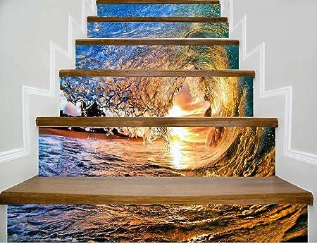 Qtzs Decoration De La Maison 3d Surf Surf Escaliers Stickers