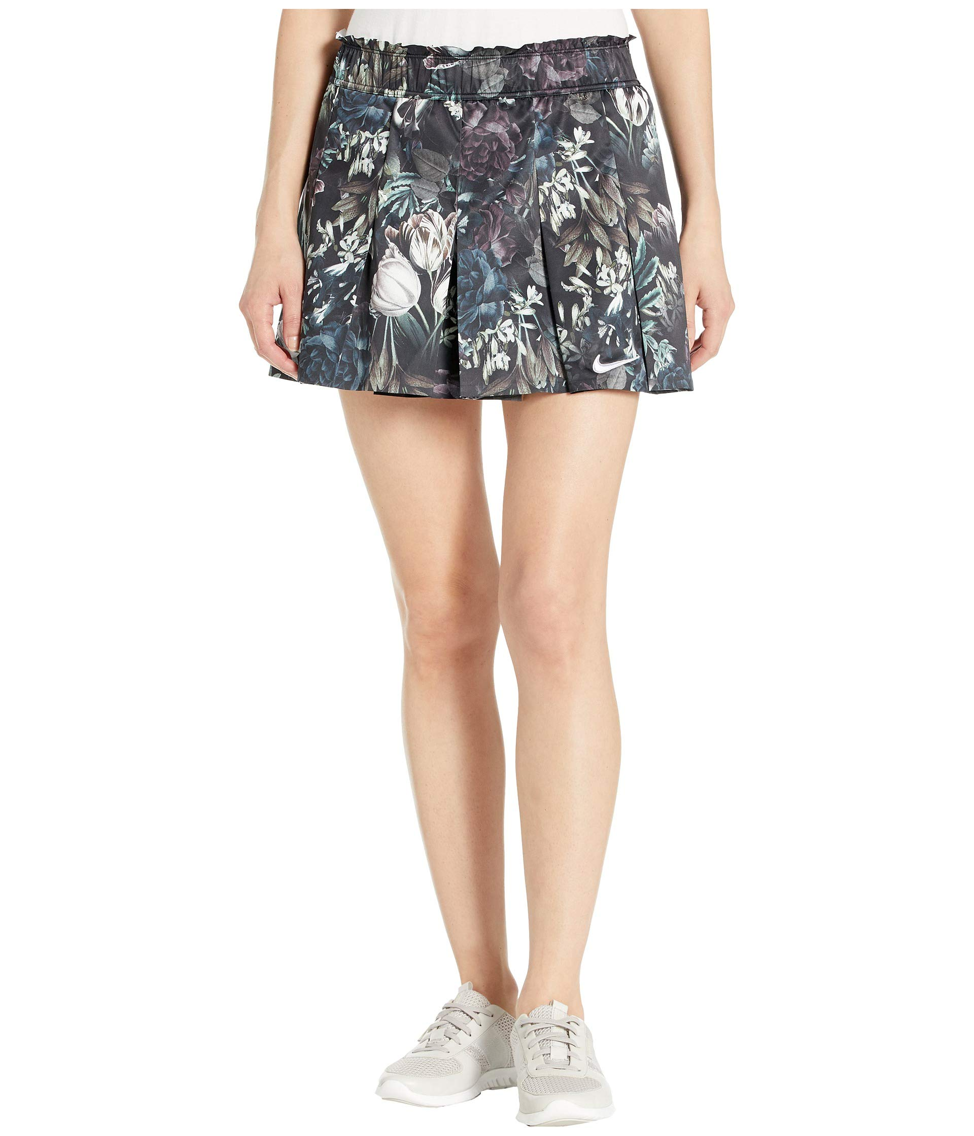 Nike W Nkct FLX Skirt Ps Nt Womens Tennis AO0370-010, Black/Oxygen Purple/Green/White/Blue/Grey, Size US M by Nike