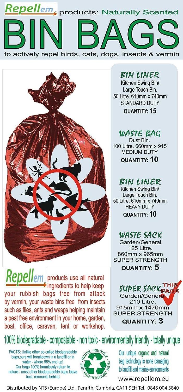 repellem Super bolsas - Repelente de fuerte y biodegradable jardín ...