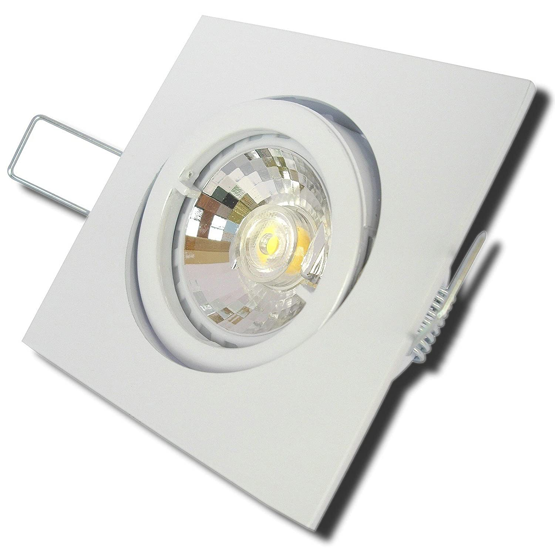6 Stück MCOB LED Einbaustrahler Luisa 12 Volt 3 Watt Schwenkbar Weiß Neutralweiß