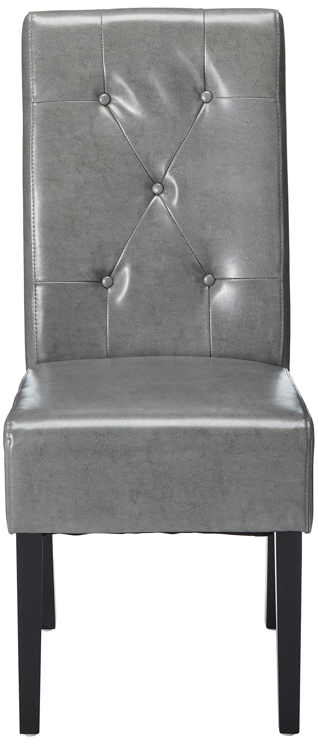 Christopher Knight Home 214519 Alexander Grey Leather Dining Chairs (Set of 2), by Christopher Knight Home (Image #2)